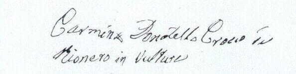 firma di crocco